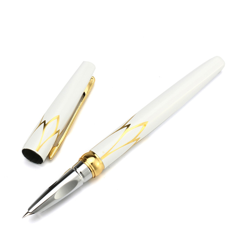 Luxury Hero 3019 0.5mm Metal Fine Fountain Pen With Gold Inlayed Trim For Writing Signature Gifts