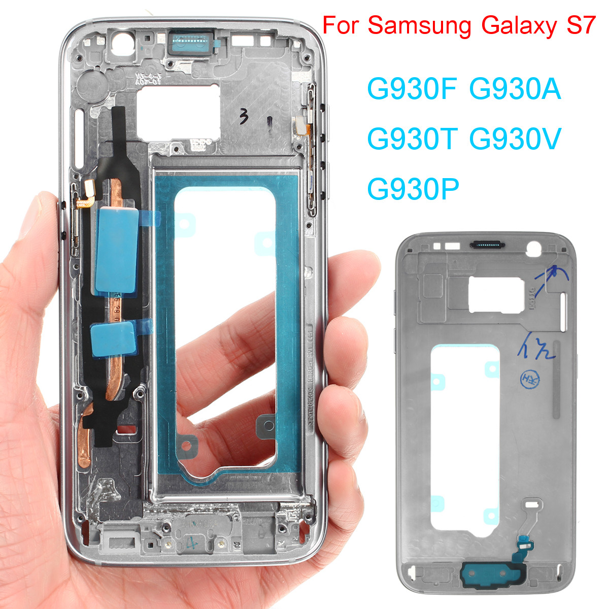 Metal Mid Frame Back Housing Cover Replacement Assembly for Samsung Galaxy S7