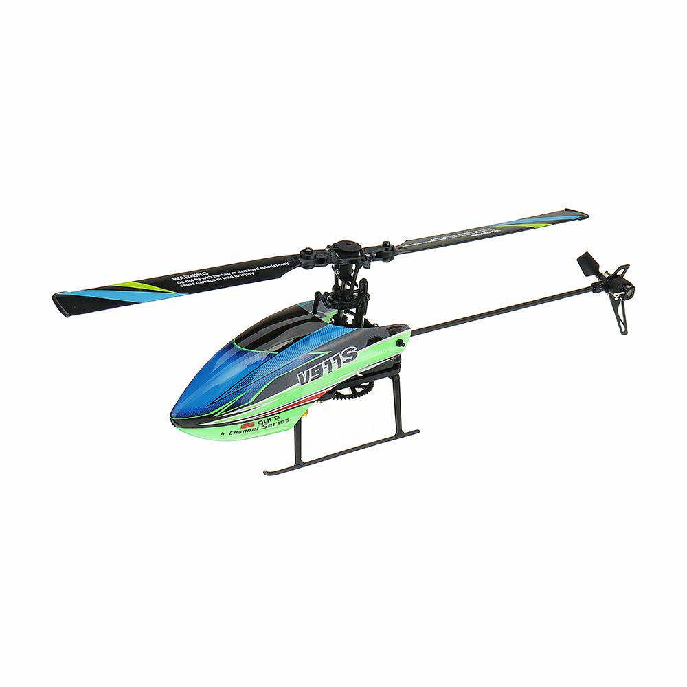 WLtoys V911S 2.4G 4CH 6-Aixs Gyro Flybarless RC Helicopter RTF