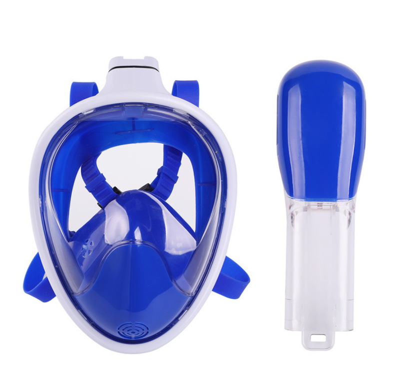 DIDEEP Full Face Diving Mask Anti Fog Snorkeling Swimming Breathing Mask With Earplug Net Bag