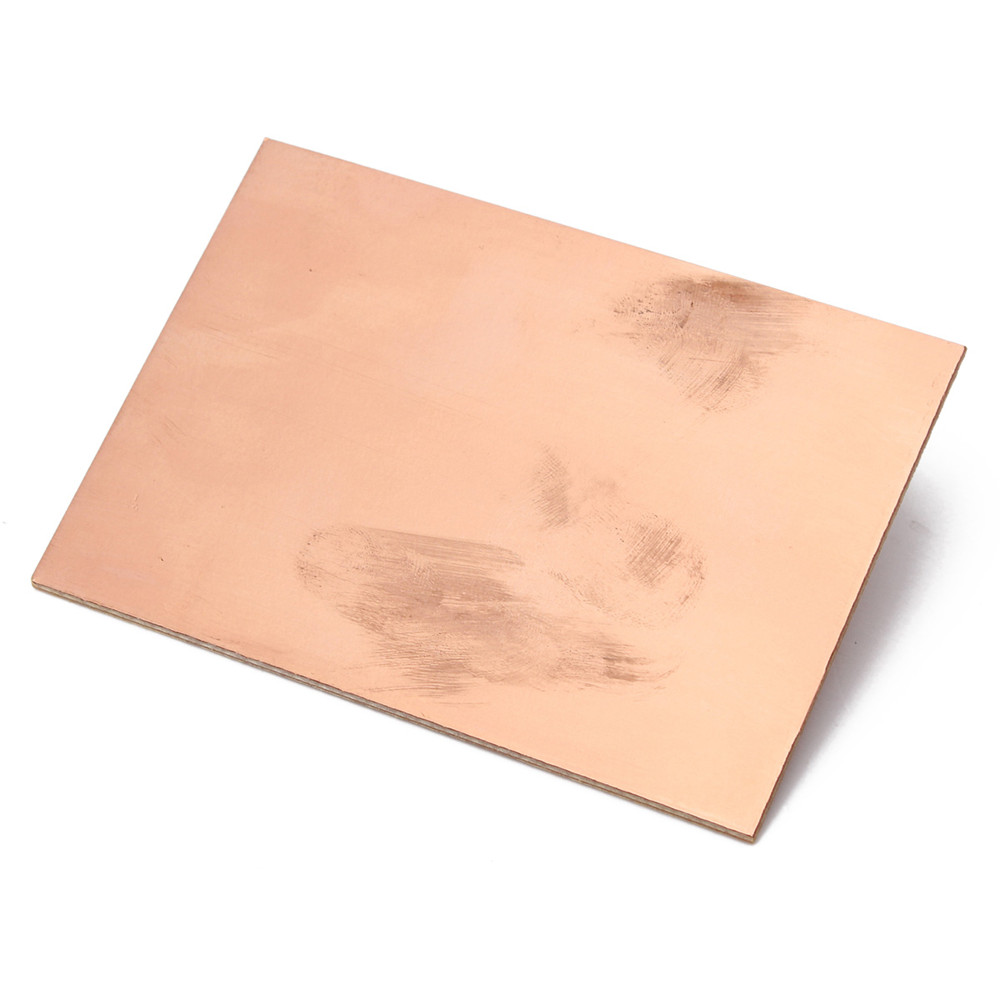 One Side Copper Clad 70x100x1.5mm Single PCB Board Glass Fiber