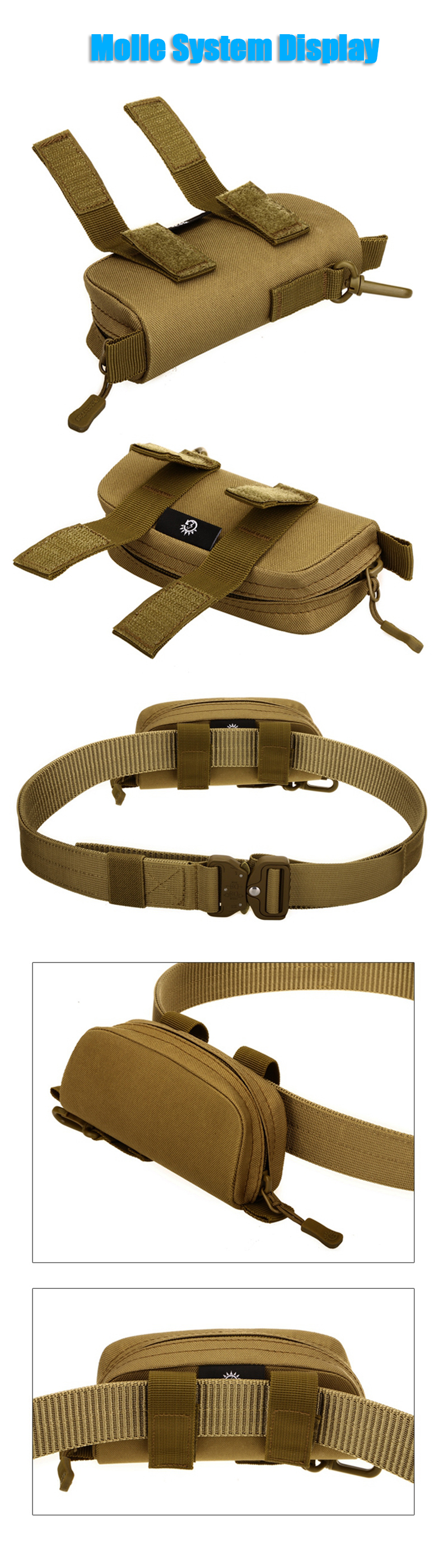 Protector Plus Military Camouflage Glasses Tactical Bag Mini Storage Molle Pouch Nylon Hip Bum Waist Belt Pack