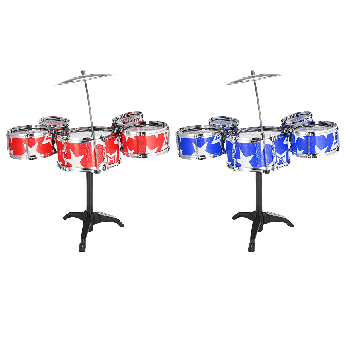 Ships & Boats - 9Pcs Childs Kids Drum Kit Jazz Band Sound Drums Play