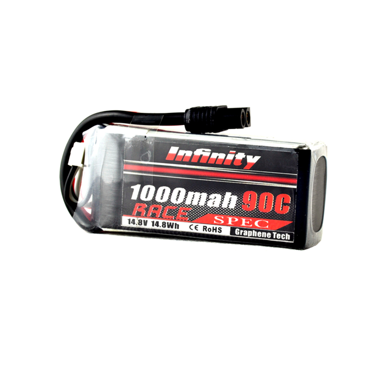AHTECH Infinity 4S 14.8V 1000mAh 90C Graphene LiPo Battery SY60 for RC Drone FPV Racing Multi Rotor