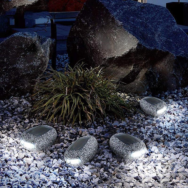 S12 2835 Multifunction Waterproof Solar Power Simulated Stone Light Garden Decoration Night Light