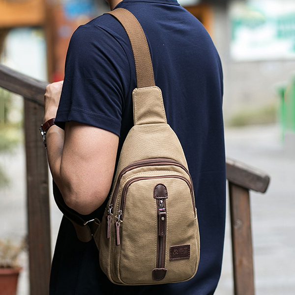 Canvas Multi-function Outdoor Travel Casual Chest Bag