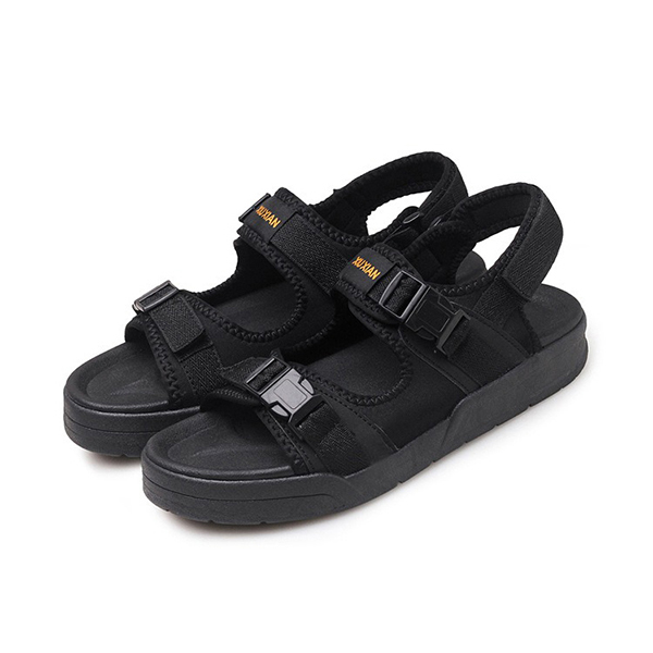 Men Casual Breathable Two Straps Hook Loop Sandals