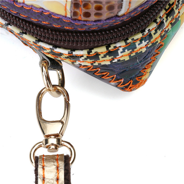 Women Contrast Color Patchwork Shoulder Bags Folk Custom Stitching Crossbody Bags