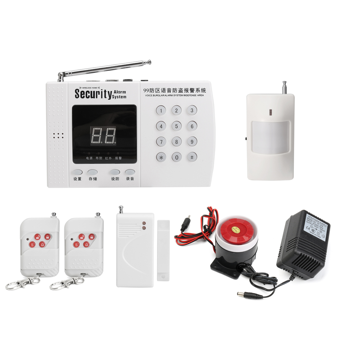 Remote Control Wireless Home Burglar Security Alarm System Detector Sensor Set 315MHz