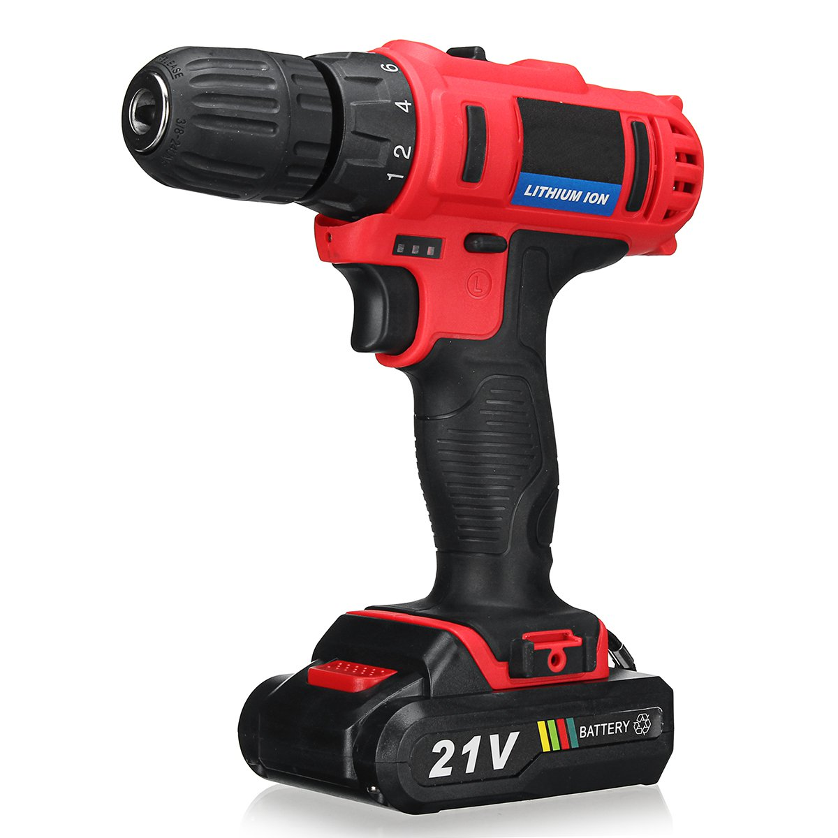 21V Cordless Drill Rechargeable Lithium Battery Electric Drill Power Drills Driver