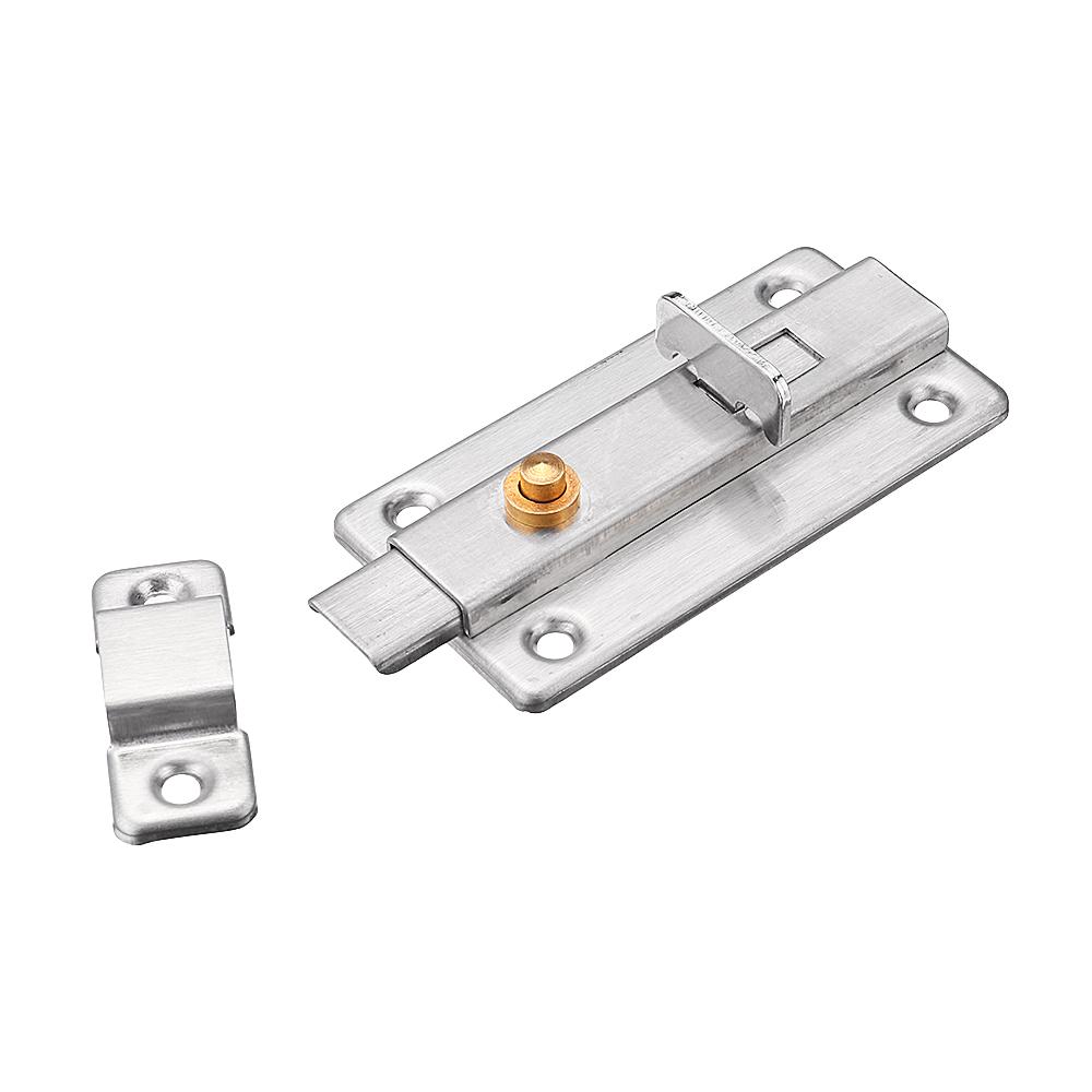 Stainless Steel Automatic Spring Door Sliding Latch Lock Barrel Bolt Anti-Theft Hardware