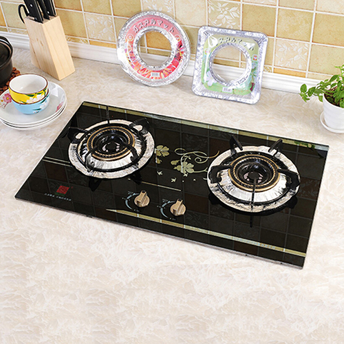 10Pcs Reusable Gas Hob Oil Barrier Protector Liner Gas Stove Burner Cover Mat Pad