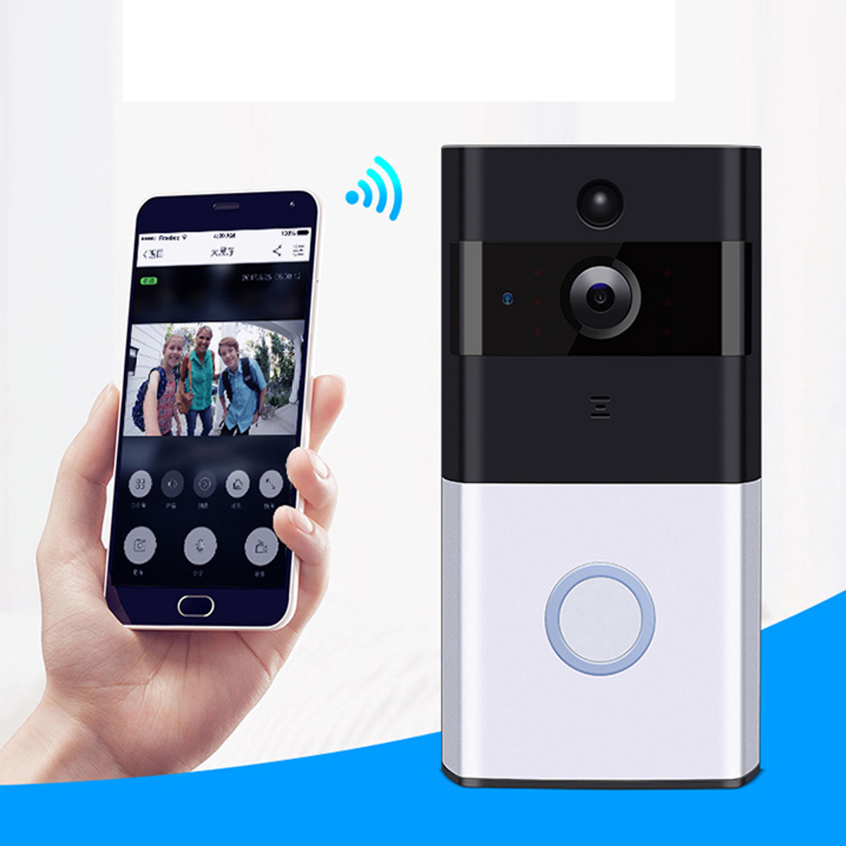 Wireless Battery WiFi Smart HD Video Doorbell Talk Night Vision Security App Control Home Applicance
