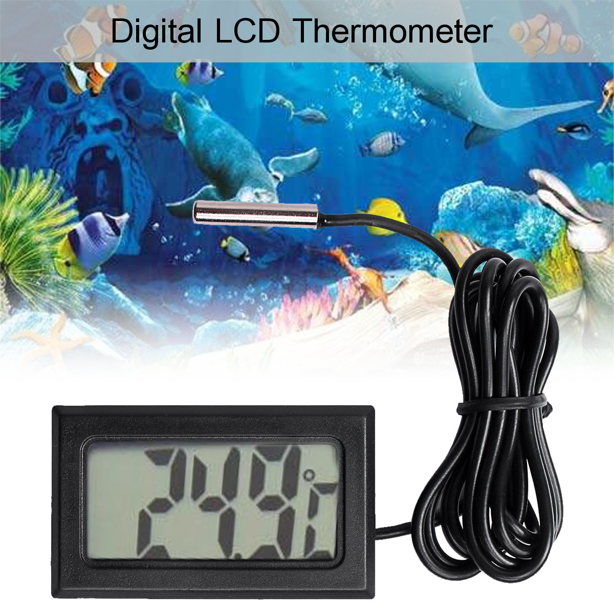 Home Brew LCD Digital Probe Embedded Thermometer Fridge Freezer Keg Beer