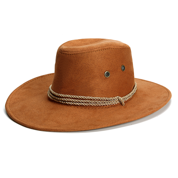 Classic Faux Leather Western Beach Sun Bucket Caps