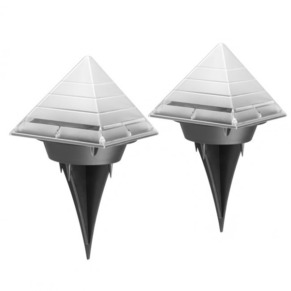 Solar Power LED Pyramid Underground Buried Lamp Outdoor Garden Pathway Lawn Light Decor