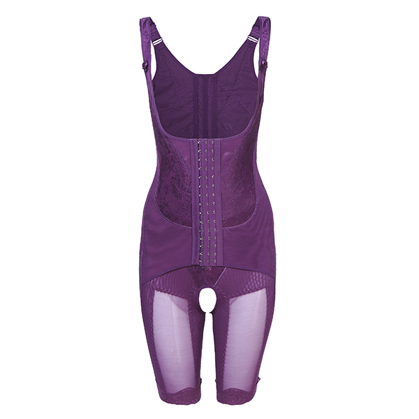 Plus Size Women Breathable Open Crotch Body Suit Shapewear