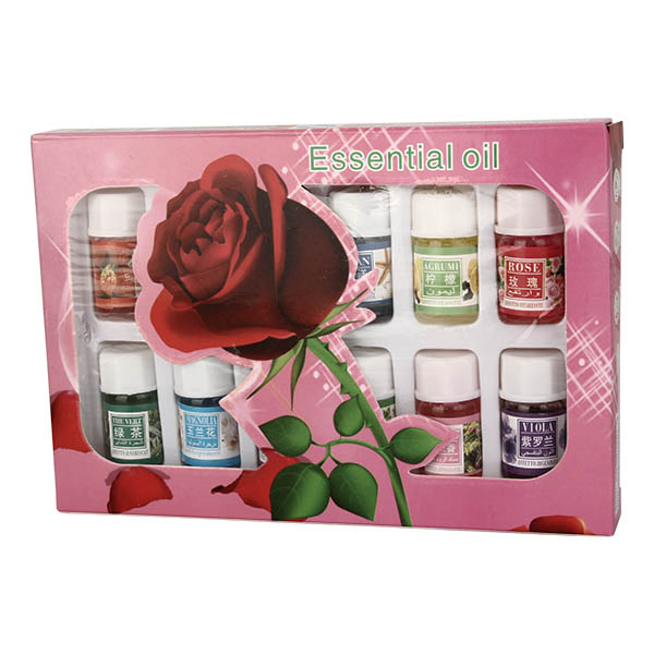 12pcs Aromatherapy Lavender Rose Humidifier Essential Oils Pure Plant Water Soluble Aroma Oil Set