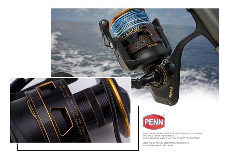 PENN Clash CLA 3000 6.2:1 8+1BB Metal Spinning Fishing Reel Left/Right Interchange Pre-Loading Wheel