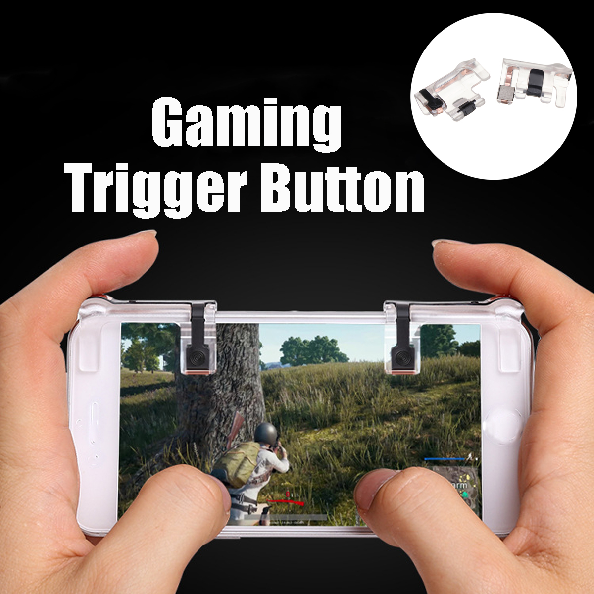 Bakeey Gaming Trigger Fire Button Shooter Gamepad Controller for L1R1 Mobile Phone PUBG Game