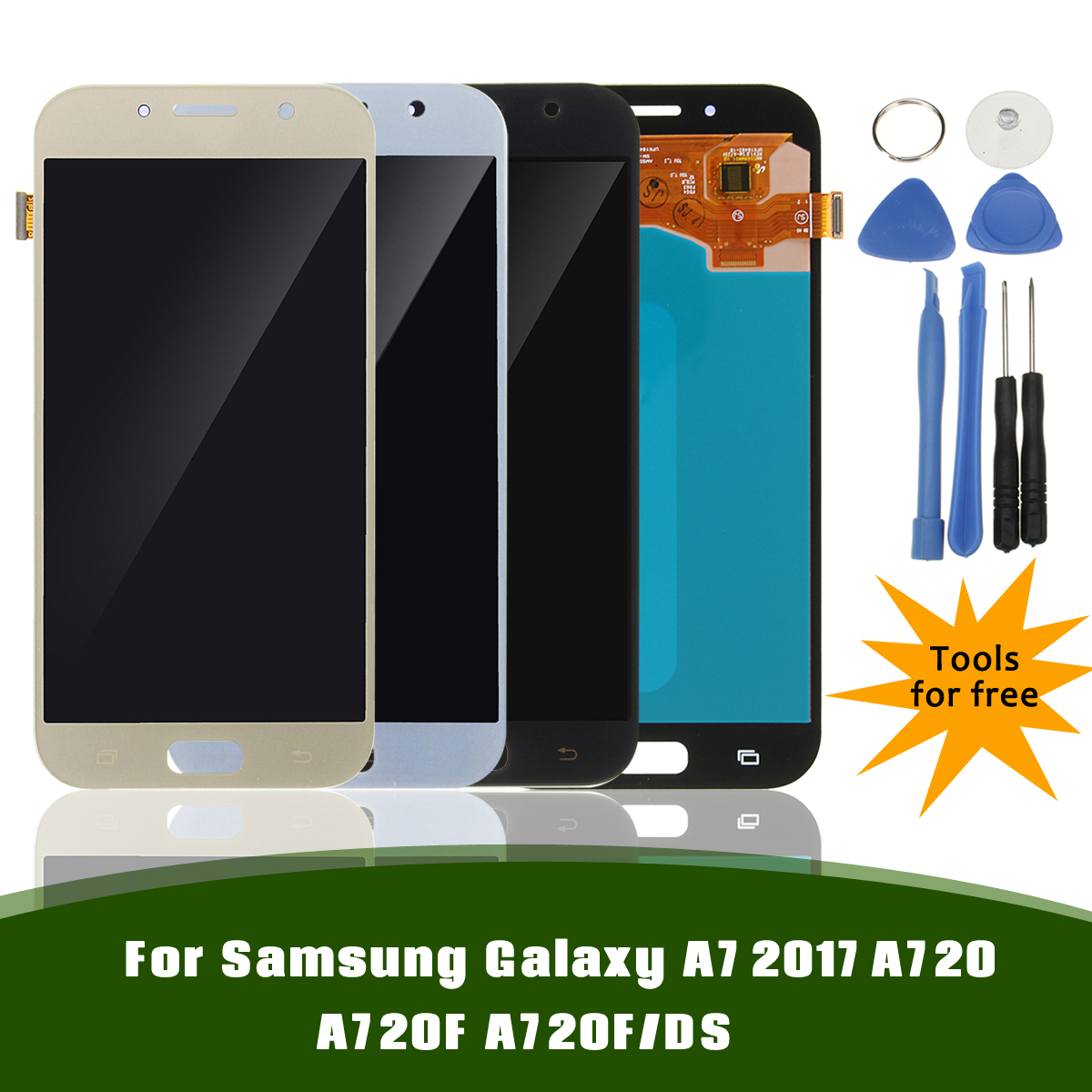 Full Assembly LCD Display+Touch Screen Digitizer Replacement & Repair Tools for Samsung Galaxy A7