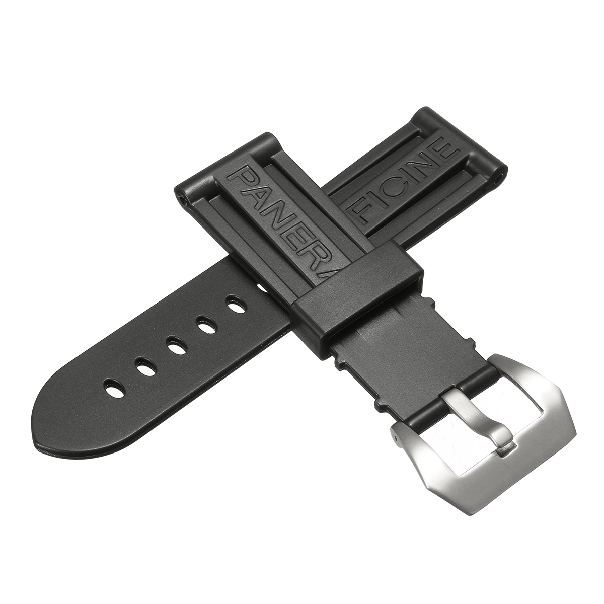 Bakeey 24mm Wristwatch Strap Silicon Rubber Diving Watch Band for PANERAI