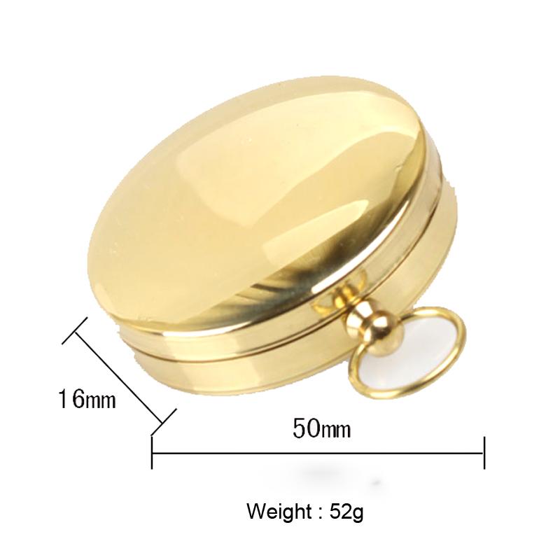 Outdoor Portable Brass Pocket G50 Copper Golden Compass Luminous Navigation Flip