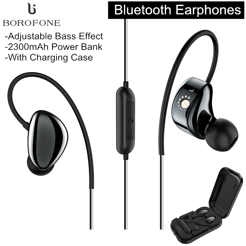 BOROFONE BE14 Wireless bluetooth Earphone Waterproof Headphone with 2300mAh Charging Box Power Bank