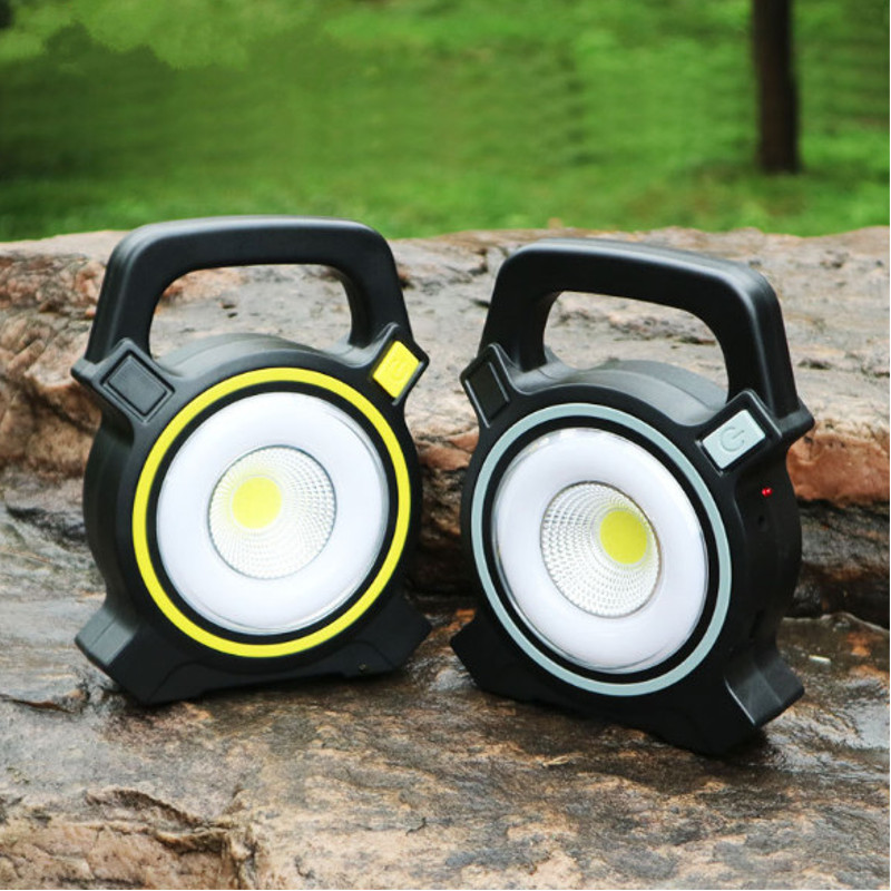 30W COB LED USB Solar Work Light Spotlight Flood Lamp Lantern Outdoor Camping
