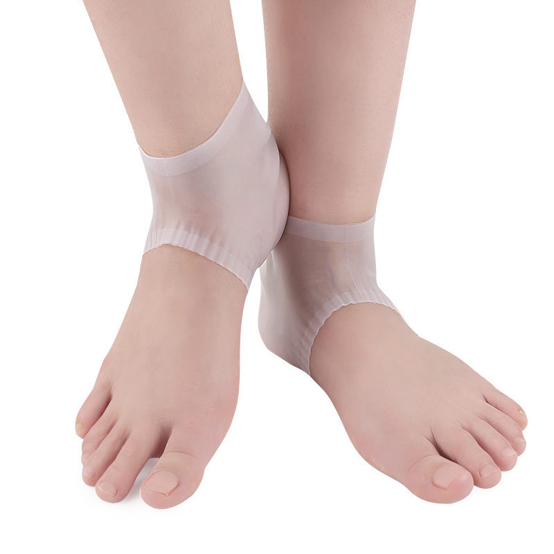 IPRee 1 Pair Silicone Heel Cover Foot Support Protective Pain Relief Breathable Foot Skin Care Sports Protective Gear