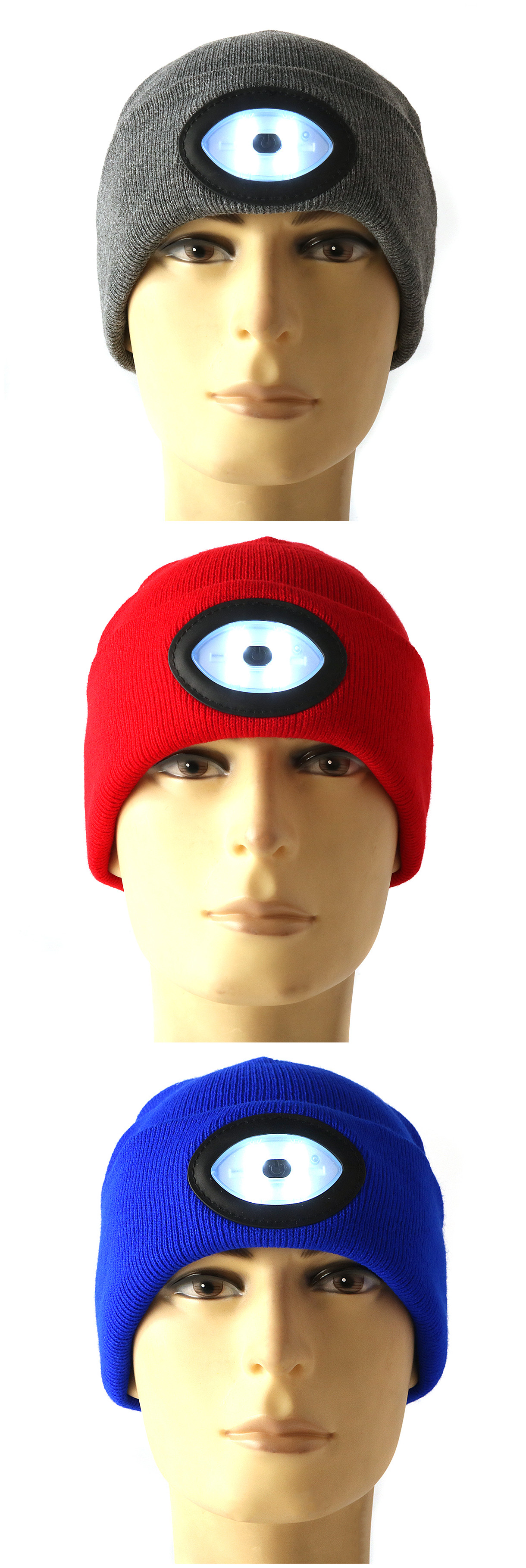 11aa2bae316 Sports Running 6 LED Beanie Knit Hat Rechargeable Cap Light Camping  Climbing Lamp