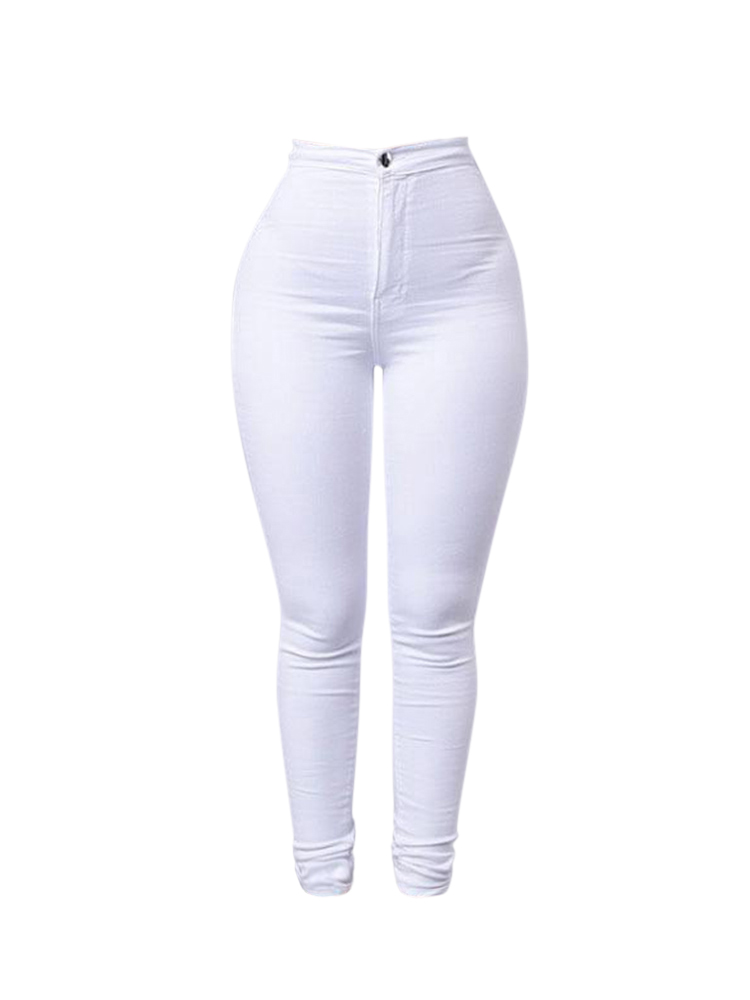 Casual Stretch Skinny High Waist Women Pencil Pant Jeans Leggings