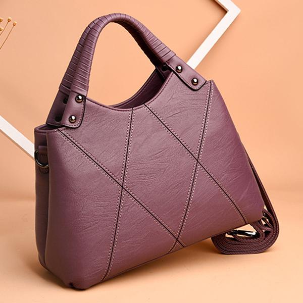 Women Pu Leather Tote Handbag Classic Crossbody Bag