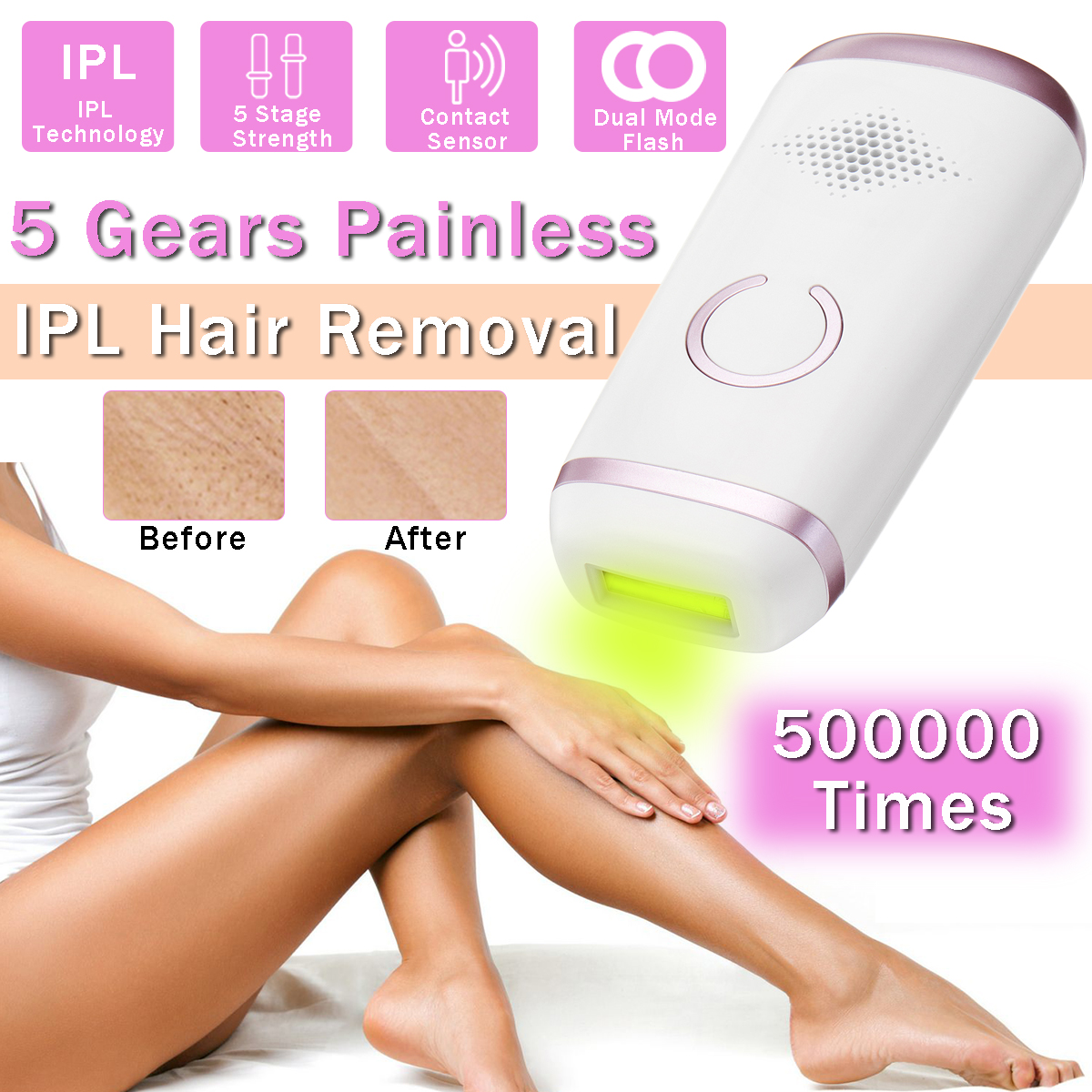 Face Body Hair Removal Painless Permanent IPL