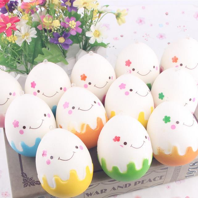 Squishy Simulation Easter Egg Phone Straps Fun Toys Decoration