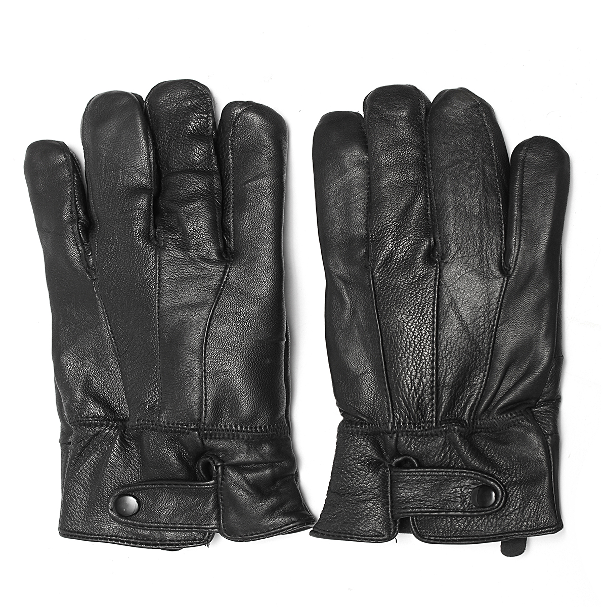 Touch Screen Leather Gloves Thermal Lined Driving Winter Motorcycle