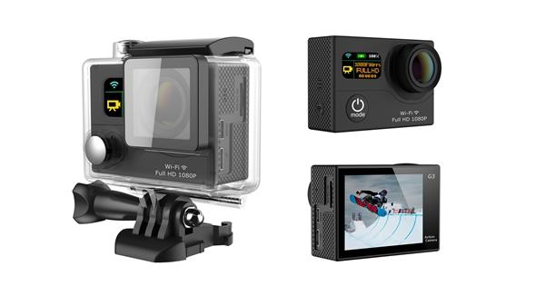 EKEN G3 Sports Actioncamera WiFi 2-inch LCD 170° Wide Angle HD Port