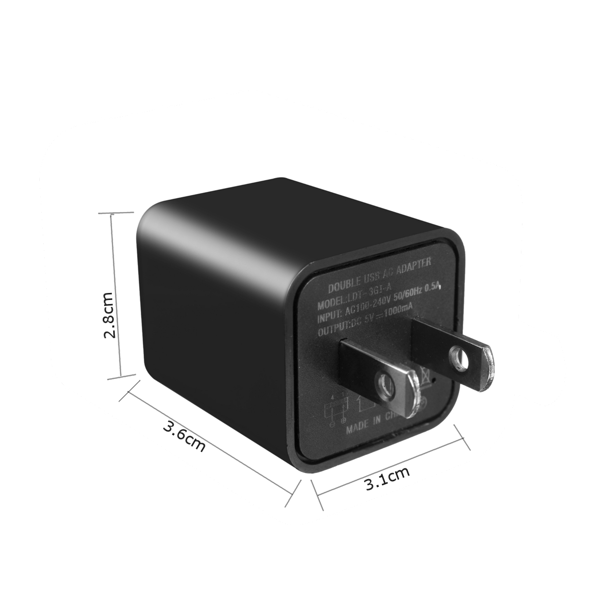 Voice Activated Wall Charger GSM GPS SIM Tracker Audio Ear Bug Listening Device
