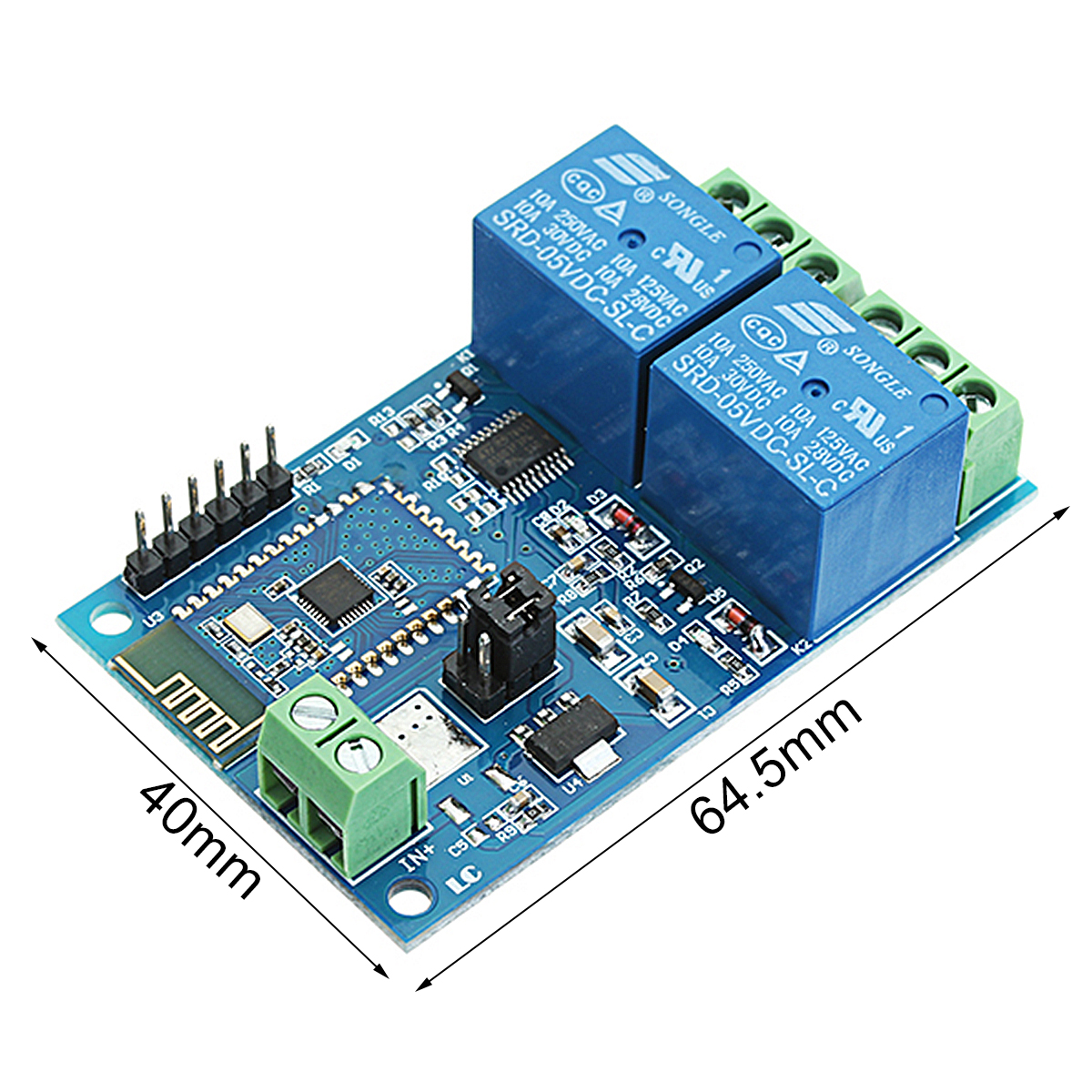 5V Dual Bluetooth Relay Internet Of Things Smart Home Mobile APP Remote Switch