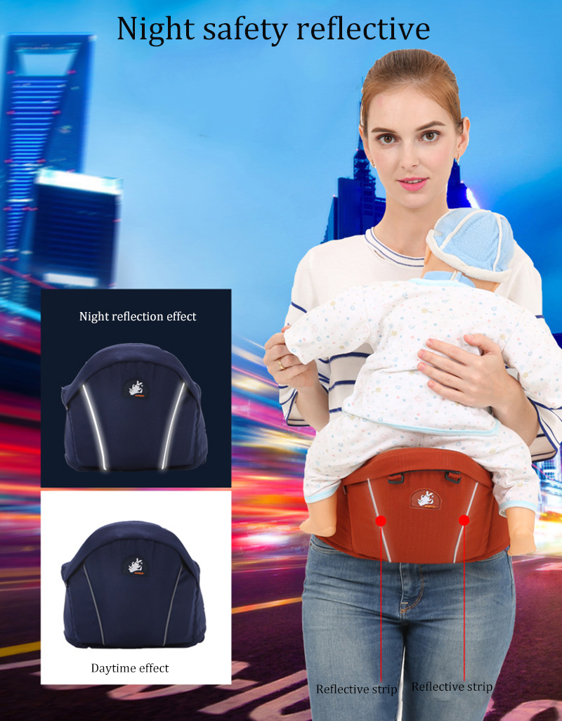 Outdoor Portable Baby Carriers Bag Waist Stool Multi-function Infant Hold Hip Seat Camping Travel