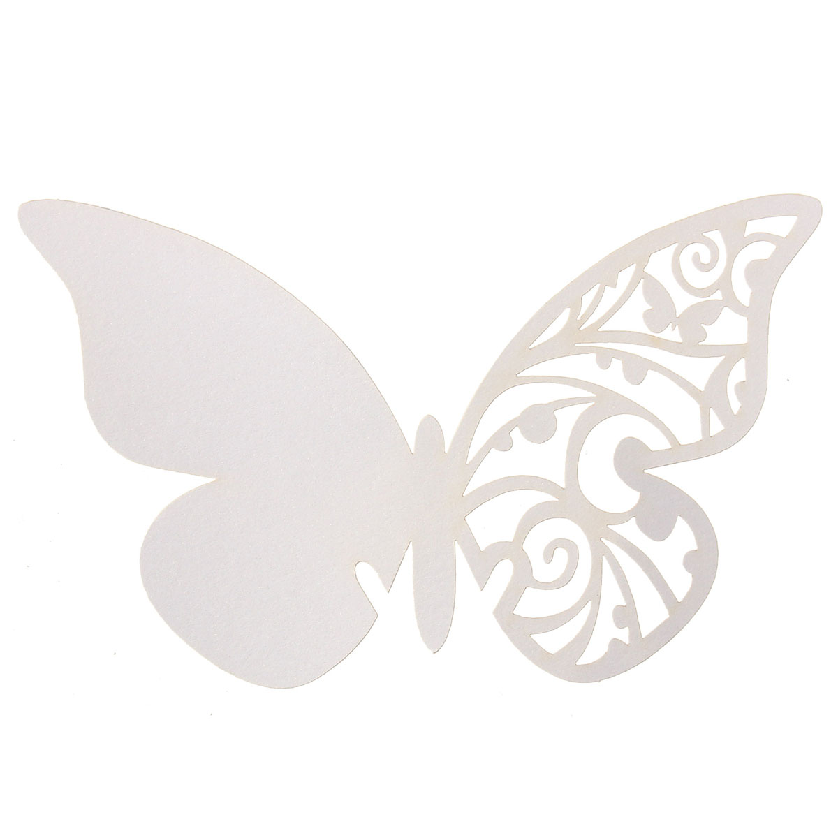 50Pcs Butterfly Wedding Name Place Cards Wine Glass Laser Cut Pearlescent Card Party Accessories