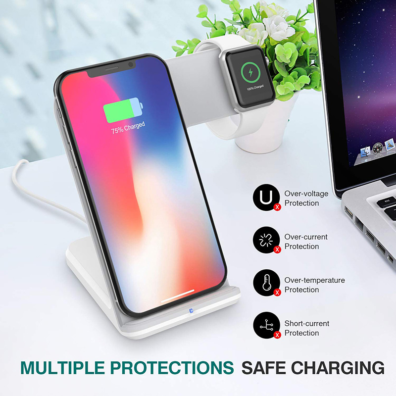 Bakeey 2 in 1 10W 7.5W Wireless Charger Charging Dock For iPhone XS MAX XR iWatch 1 2 3 4 S9 Note 9
