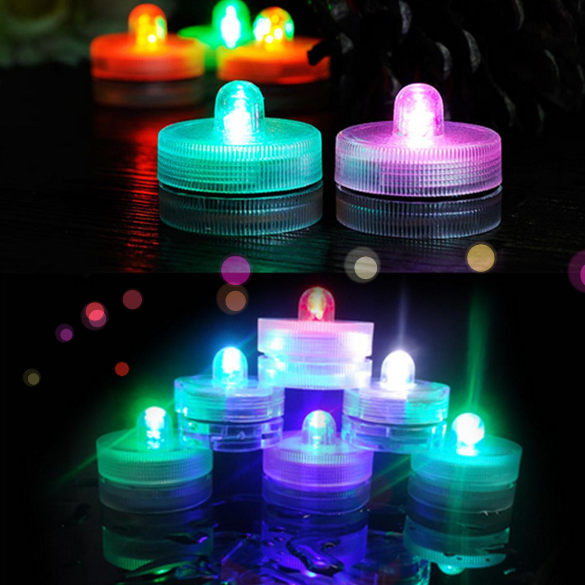 Waterproof LED Light Party Wedding Decor Floral Lamp Decoration Vase Candle Fishbowl Light