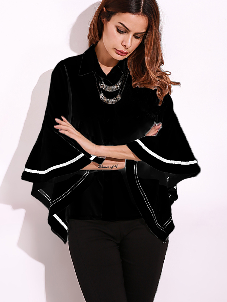 ZANZEA S-5XL Women Top Bell Sleeve Button Formal Blouse