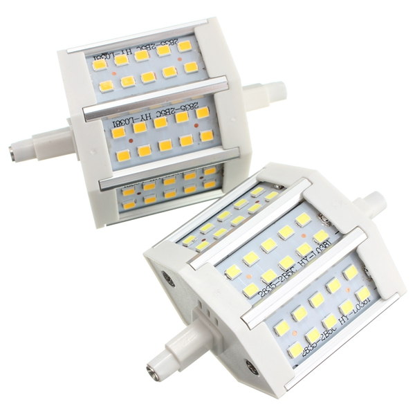 R7S Dimmable LED Bulb 5W SMD 2835 30 400-450LM Pure White/Warm White Corn Light Lamp AC 85-265V