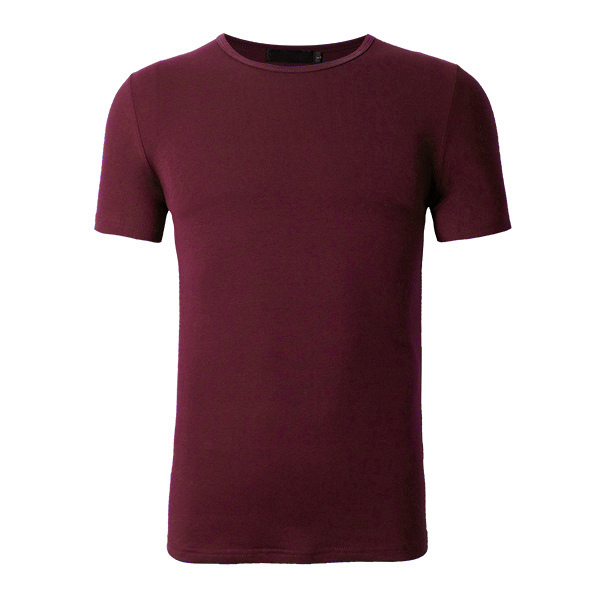 Mens Summer S-3XL Plus Size Solid Color Sports Fitness Short Sleeve Cotton T-shirt Tops