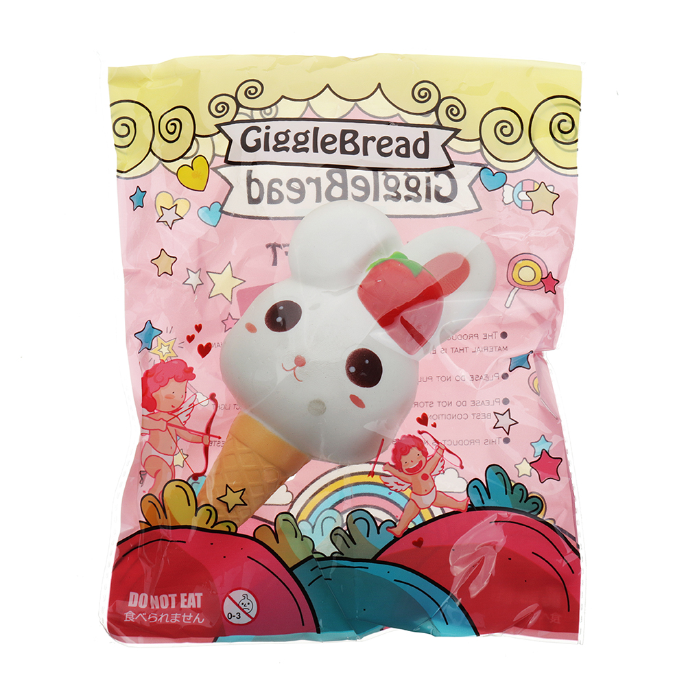 Gigglebread Rabbit Ice Cream Squishy 13.5*6.5*6CM Slow Rising With Packaging Collection Gift