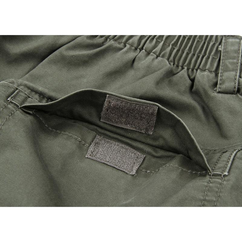 Large Size Mens Pure Color Leisure Calf Length Cargo Pants
