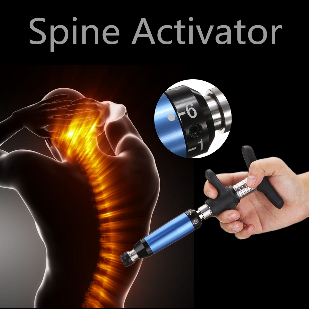 Portable Chiropractic Spine Activator Back Adjusting Tool