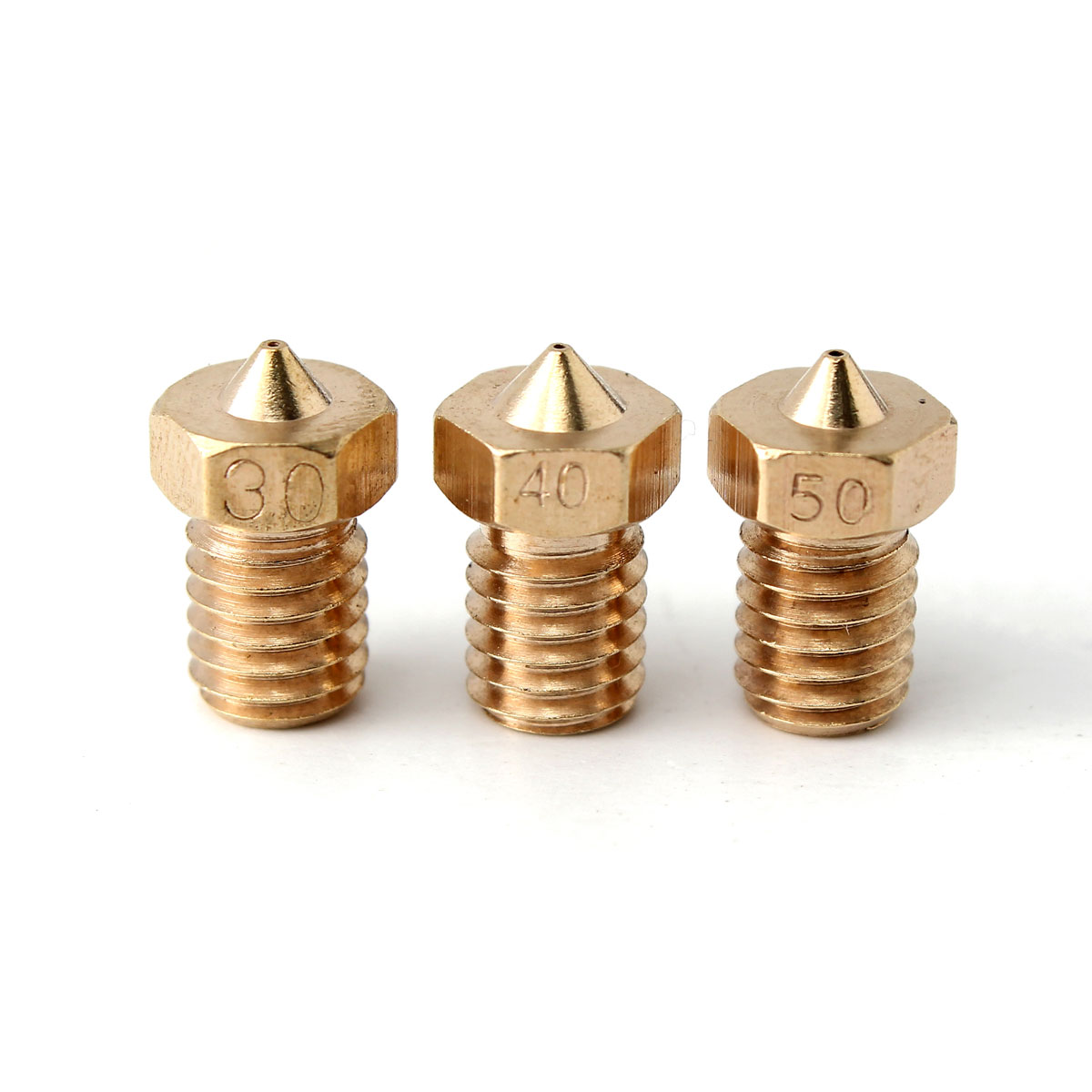 1 Pc M6 Threaded Copper Nozzle 0.3-0.4-0.5MM For 1.75mm Supplies 3D Printer